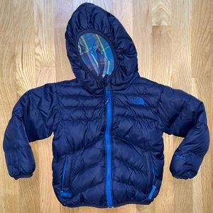 North Face toddler reversible puffer jacket